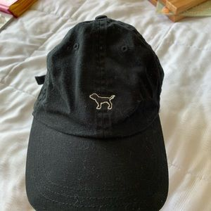 Victoria Secret/PINK black dog baseball cap